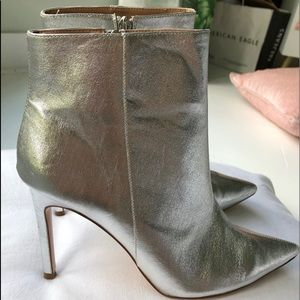 ZARA Metallic Ankle Boots